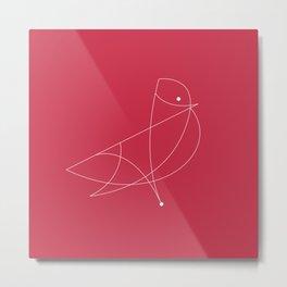 Contours: Cardinal (Line) Metal Print