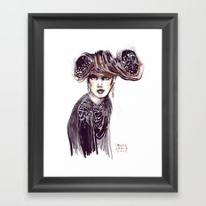 Fashion sketches in mixed technique Framed Art Print