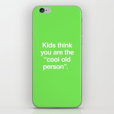 Cool Old Person iPhone & iPod Skin