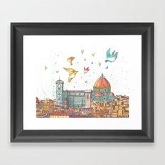 Colors of Florence Framed Art Print