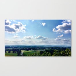 View from the tippy top Canvas Print