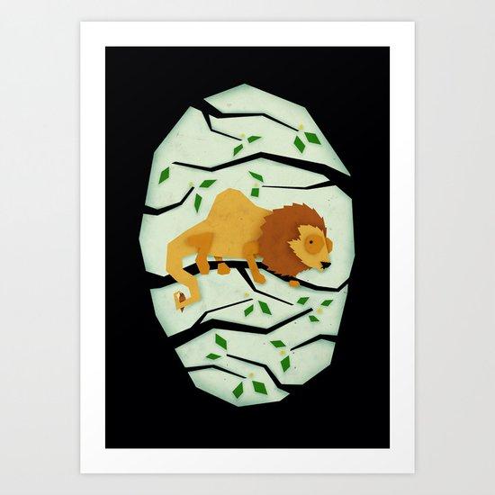 The Elusive Camel Lion Art Print