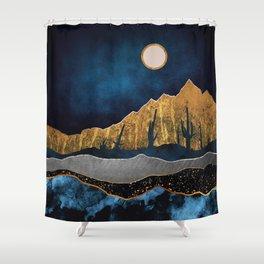 Midnight Desert Moon Shower Curtain