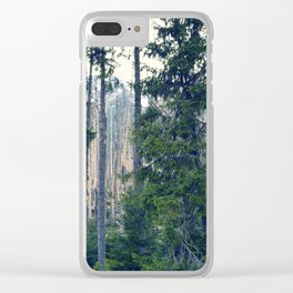 Spring in The Mountains Clear iPhone Case