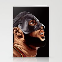 lebron Stationery Cards featuring THE KING by THEMAD3