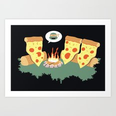 Campfire Tales Of A Pepperoni Pizza Art Print