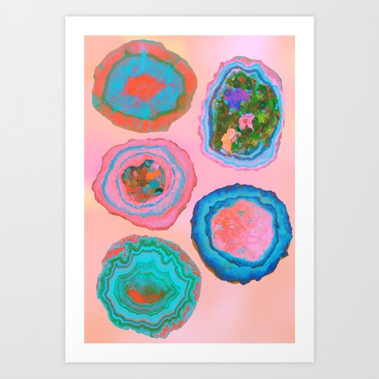 Glowing Geo Art Print