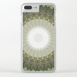 New Color Pyramidal Mandala 39 Clear iPhone Case