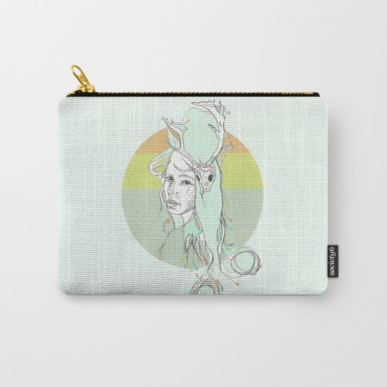 pale harlow & beryl blue Carry-All Pouch