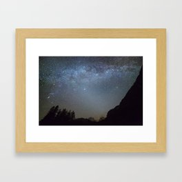 The Milky Way from Scotland Framed Art Print