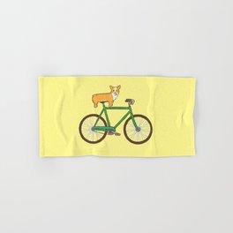 Corgi on a bike Hand & Bath Towel