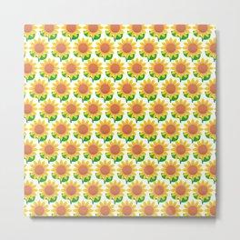 Sunflower Pattern_I Metal Print