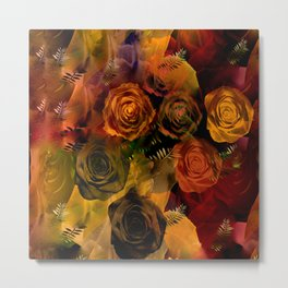 Autumn Roses Metal Print