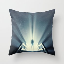 Beaming Light under the Stars Throw Pillow