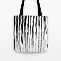 stripe Tote Bags featuring Stripe by Jack Newbury