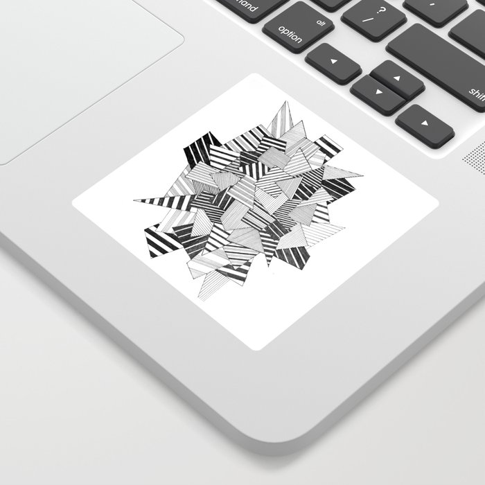 abstract crystal Sticker