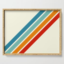Alator - Classic 70s Retro Summer Stripes Serving Tray
