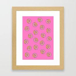 Donuts Pink Framed Art Print
