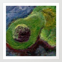 Ode to the avocado Art Print