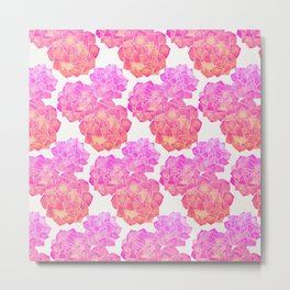 Rosette Succulents – Pink Palette Metal Print