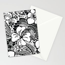 Polynesian White Hibiscus Stationery Cards