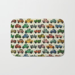 Old Timey Cars Bath Mat
