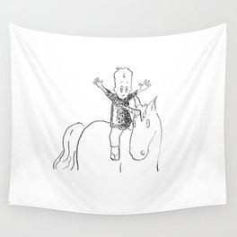 give full rein to your imagination Wall Tapestry