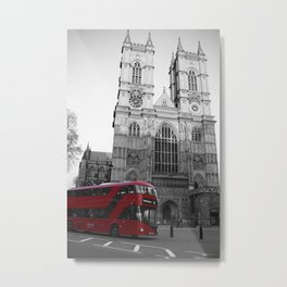 Double Decker Bus Westminster Cathedral London Metal Print
