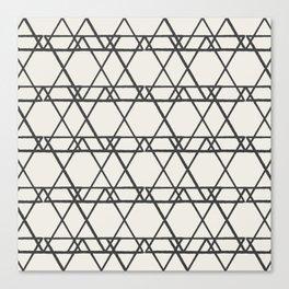 lines crayon-ivory Canvas Print