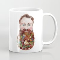 beard Mugs featuring Beard by msbordrog