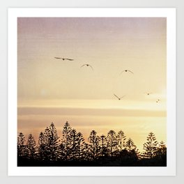 A beautiful day's end Art Print