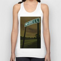 hell Tank Tops featuring Hell by Litew8