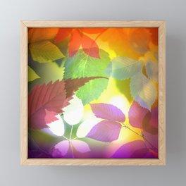 Colorful Leaf Abstract Framed Mini Art Print