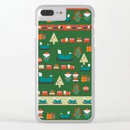 Santa's Christmas laboratory Clear iPhone Case
