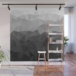 Low polygon monochromatic minimalism Wall Mural