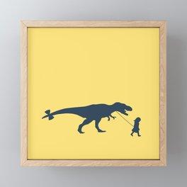 Walking my beast Framed Mini Art Print