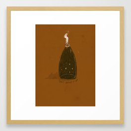 Don't Bottle It Up Framed Art Print