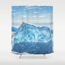 Pressure ridge of lake Baikal Shower Curtain