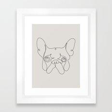 One Line French bulldog Framed Art Print