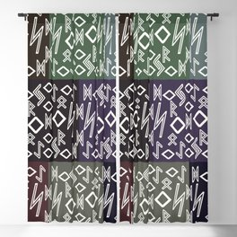 Runic patchwork Blackout Curtain
