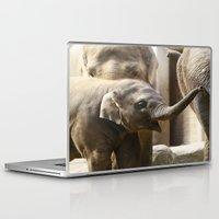 baby elephant Laptop & iPad Skins featuring Baby Elephant by Päivi Vikström