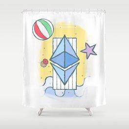 ETH #worthit Shower Curtain