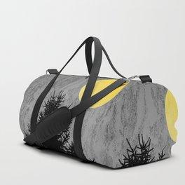 Dark pine tree Duffle Bag