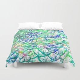 Preening Peacock Bright Duvet Cover