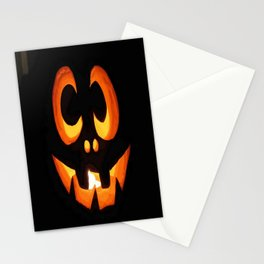 Vector Image of Friendly Halloween Pumpkin Stationery Cards