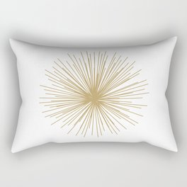 Gold Sputnik Orb Rectangular Pillow