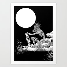 Nkulun Kulu découvre l'anonymat / Nkulun Kulu discovers anonymity Art Print