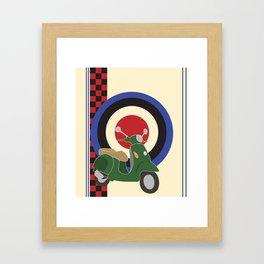 Scooter and mod symbols. Framed Art Print