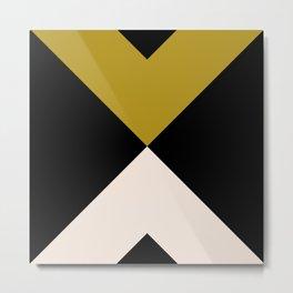 Minimal X Dark Olive Metal Print