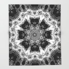 Black-and-White Abstract 56 Throw Blanket